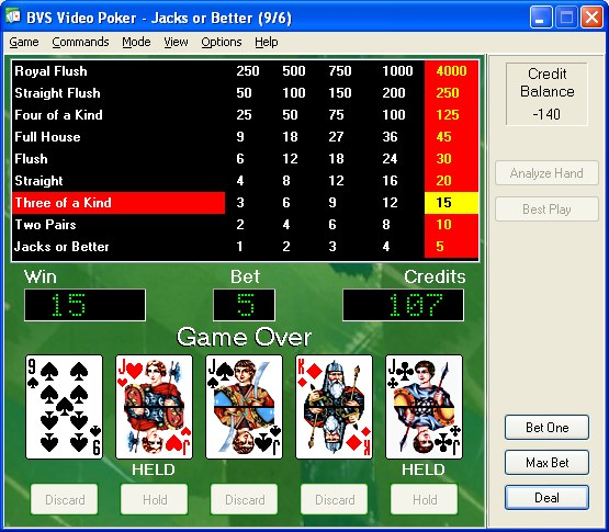 Free video poker download game