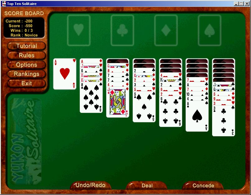 Top Ten Solitaire - Free download solitaire card game